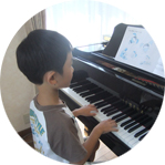 ピアノレッスンの様子